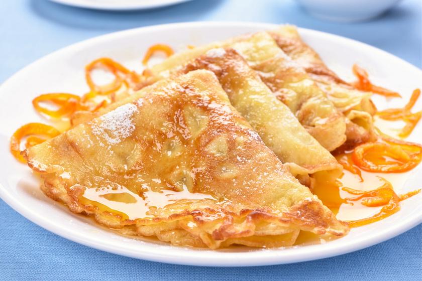 Isteni narancsos palacsinta a franciáktól: a Crepe Suzette a likőrtől még finomabb