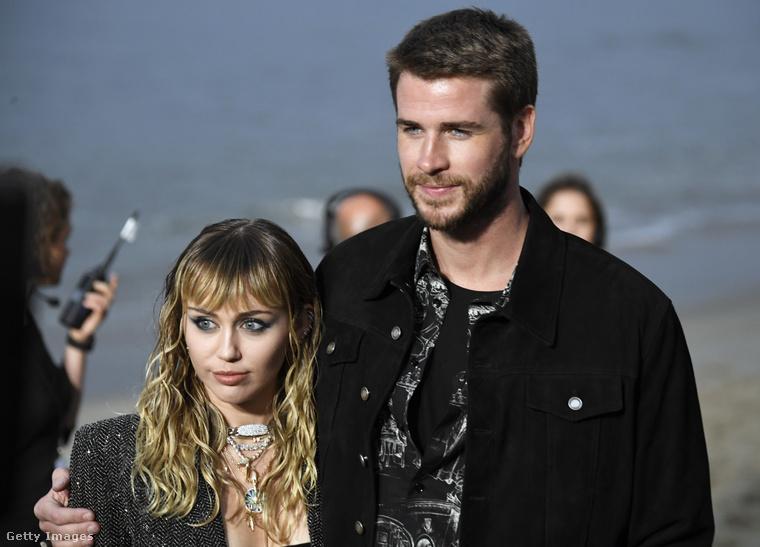 Liam Hemsworth-szel, még a házasságuk idején