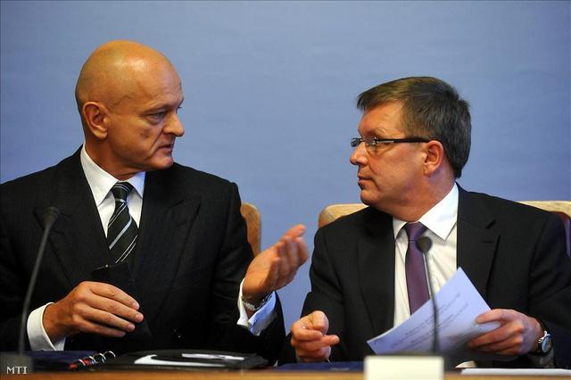 Patai Mihály, a Bankszövetség elnöke és Matolcsy György nemzetgazdasági miniszter