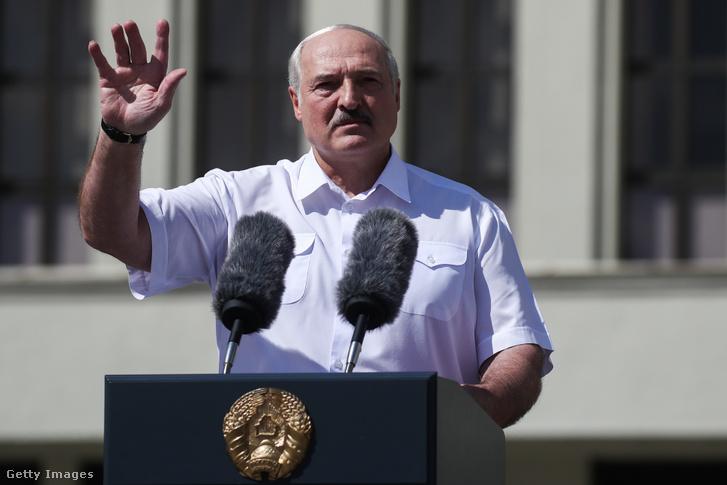 Alekszandr Lukasenko beszéde a minszki Függetlenség téren, 2020. augusztus 16-án.