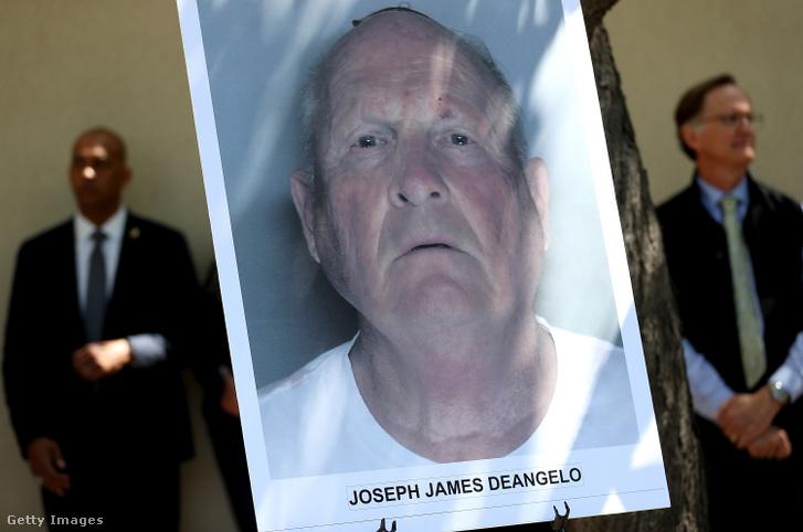 A DeAngelóról készült bűnügyi nyilvántartási fotó az elfogása után