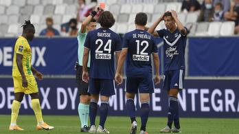 Vádlira taposással és piros lappal indult a francia bajnokság