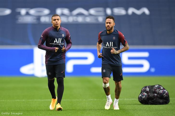 Kylian Mbappé és Neymar.