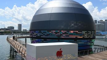 Úszó üzletet nyit az Apple Szingapúrban