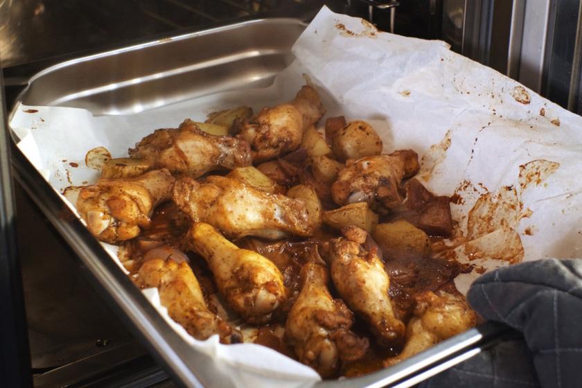 sütőben sült csirkeszárny recept