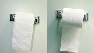 Melyik irányban kell letekerni a WC-papírt? Szavazz!