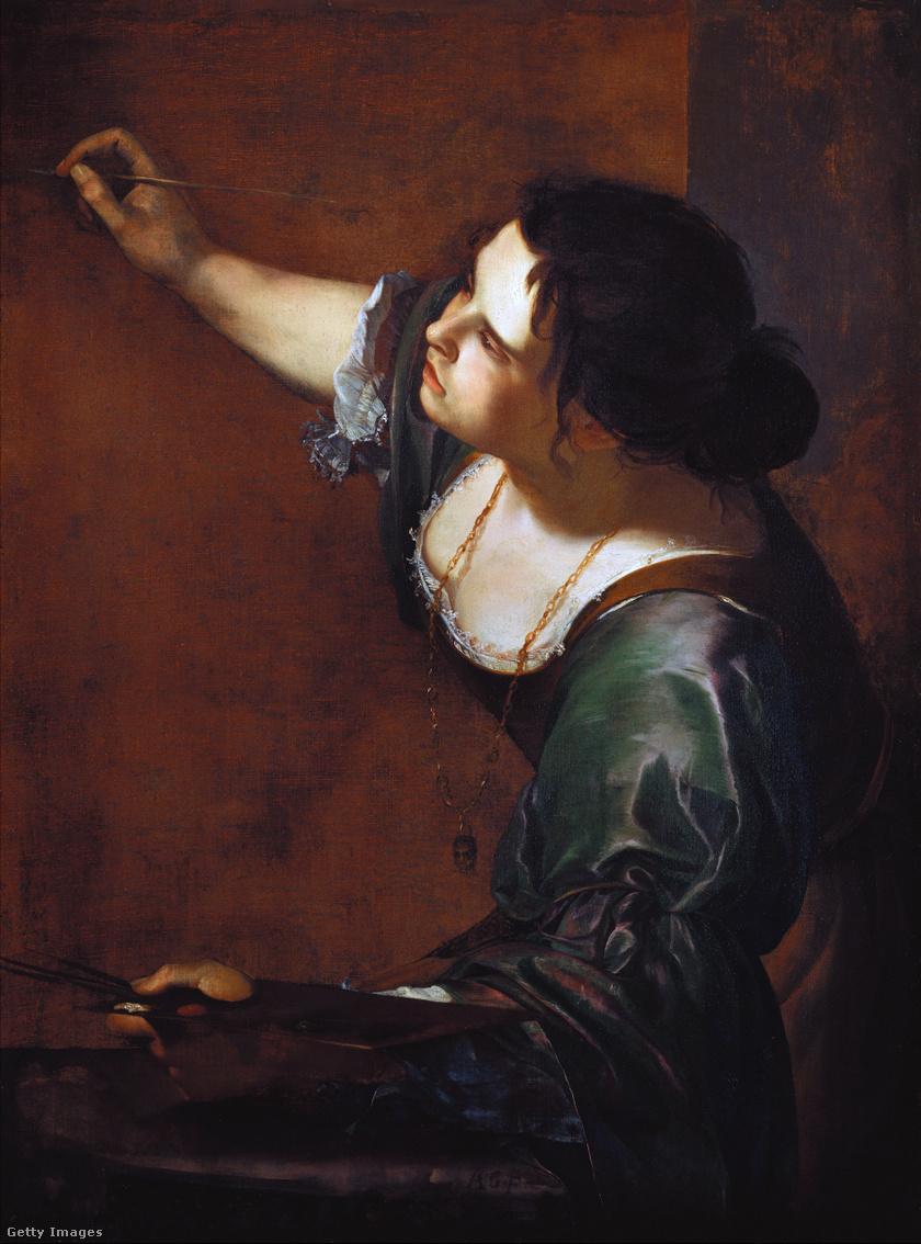 Artemisia Gentileschi: Önarckép a Festészet allegóriájaként, 1638-39 k.