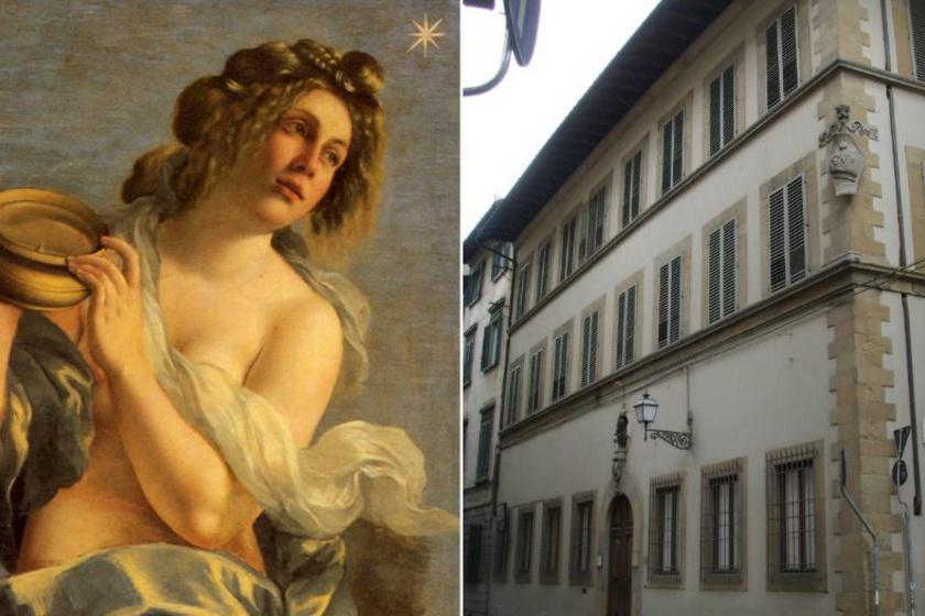 Az Inklináció allegóriája (részlet) és a Casa Buonarotti, Firenze