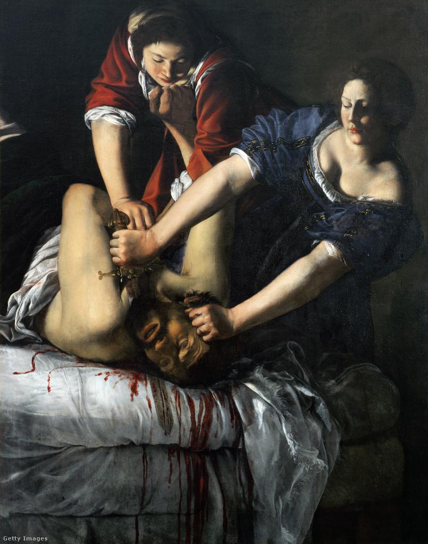 Artemisia Gentileschi: Judit lefejezi Holofernészt, 1611-1612 k.