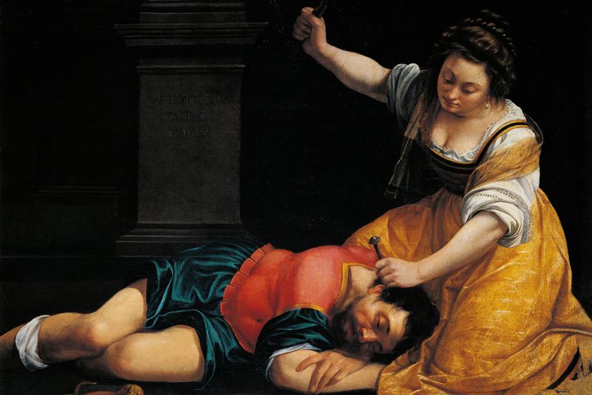 Artemisia Gentileschi: Jáel és Sisera, 1620 - A Szépművészeti Múzeum tulajdona