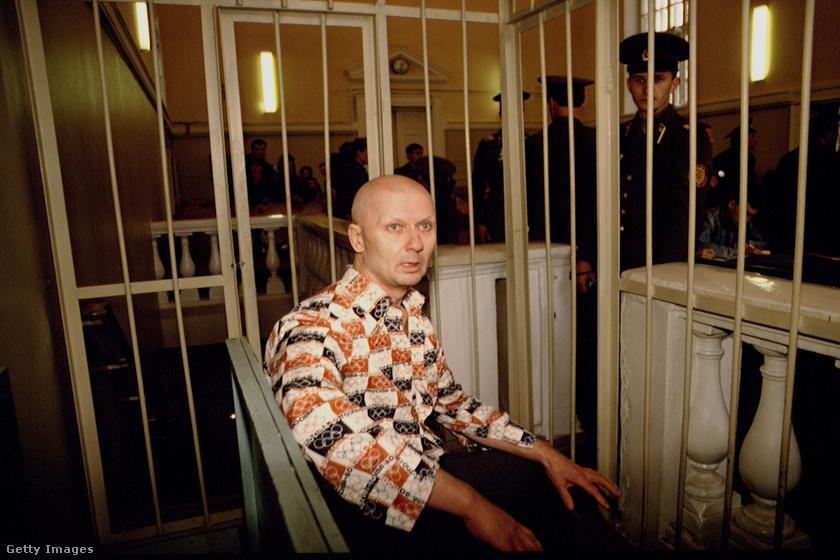 Andrej Csikatilo a tárgyaláson.