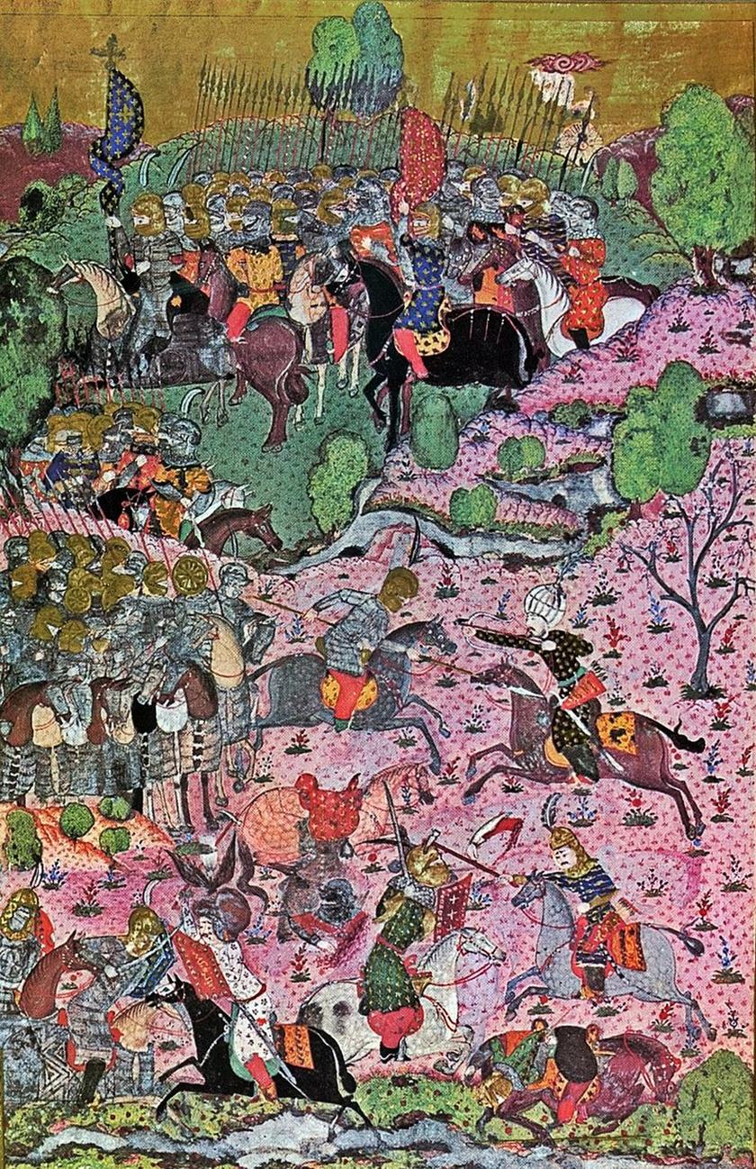 A mohácsi csata (török miniatúra részlete)