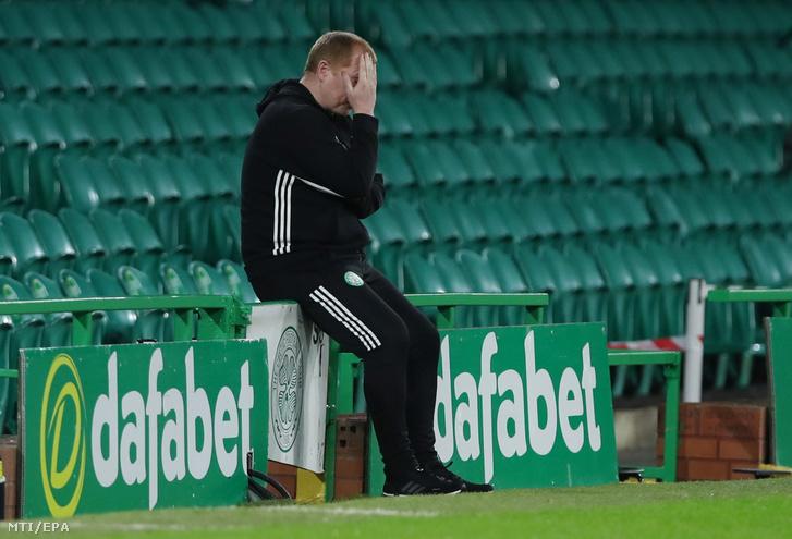 Neil Lennon, a Celtic edzője a Ferencváros ellen játszott BL-selejtező után