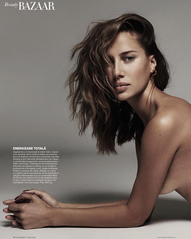 A német Harper's Bazaarban is szerepelt már, félmeztelenül, ahogy azt láthatja is.