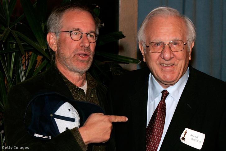 Steven Spielberg és édesapja, Arnold Spielberg 2006-ban