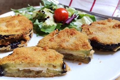 Könnyed Cordon bleu padlizsánból - Hús helyett zöldség fedi a sonkát és a sajtot