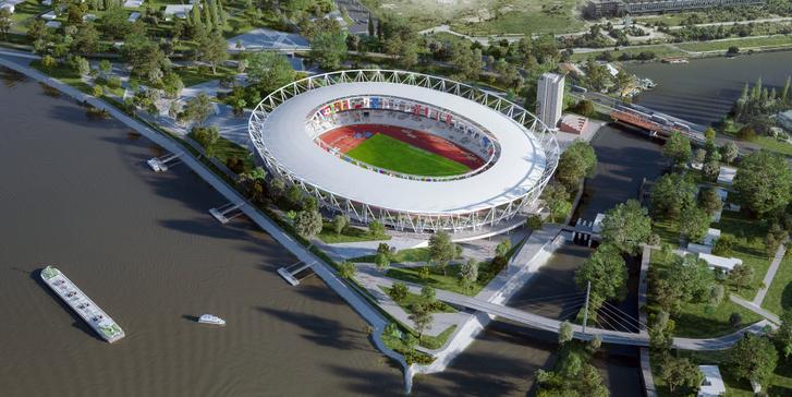 Az atlétikai stadion látványterve