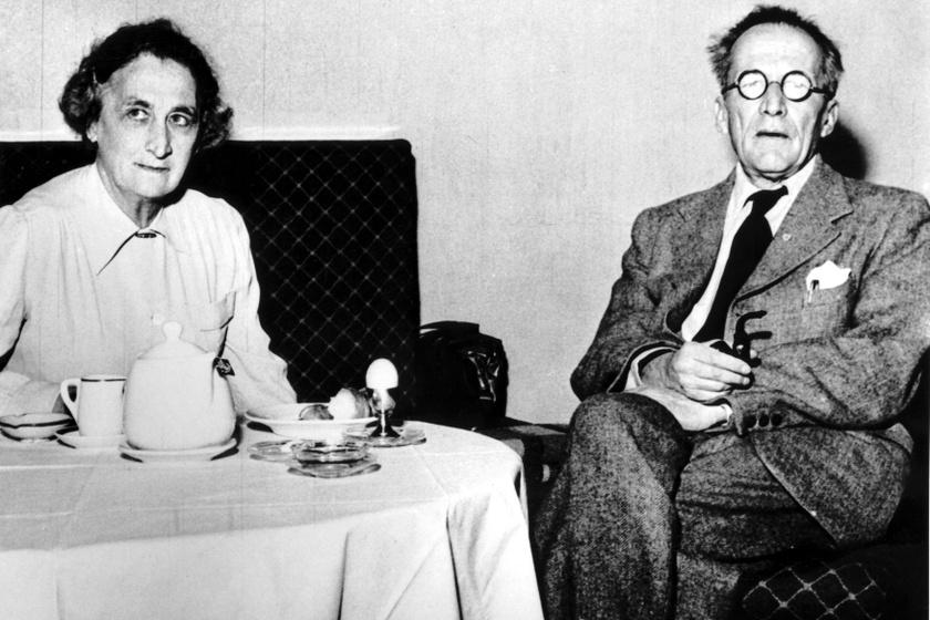 Schrödinger és felesége, Annemarie Bertel.