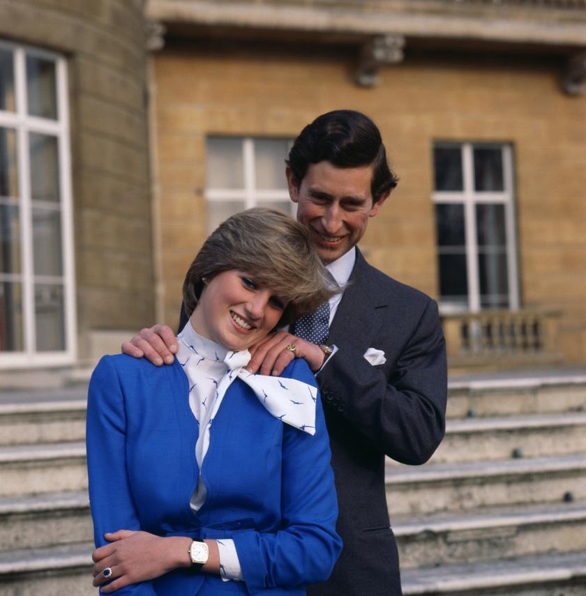 Diana és Károly 1981-ben, az eljegyzésük bejelentésekor.
