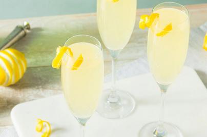Elegáns, frissítő pezsgős koktél szilveszterre - A gintől lesz különleges