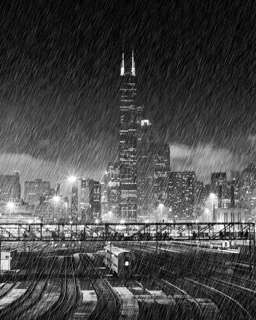 A felvétel Chicagóban készült egy esős, tavaszi napon.