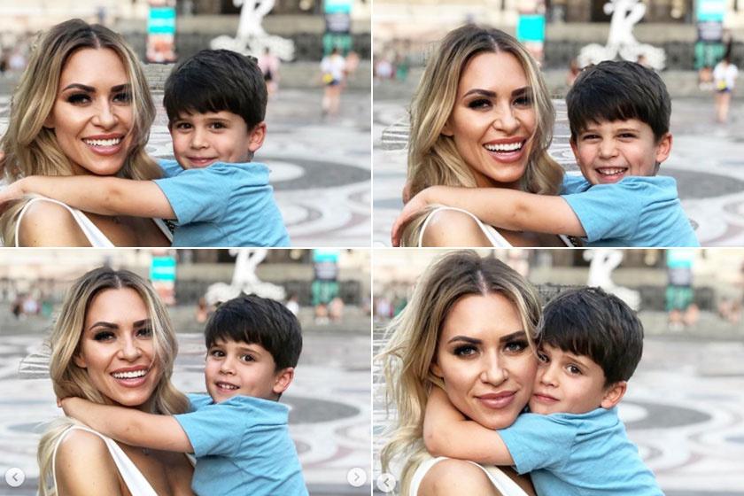 Imádni való, ahogy Jason édesanyja karjában mosolyog.