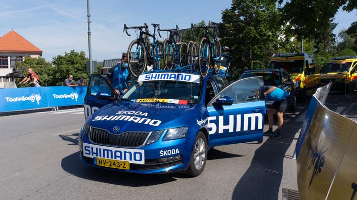 Neutrálautó a Tour de Hongrie-n