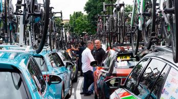 Miért kell több mint 120 gépjármű egy 120 fős kerékpárversenyhez?