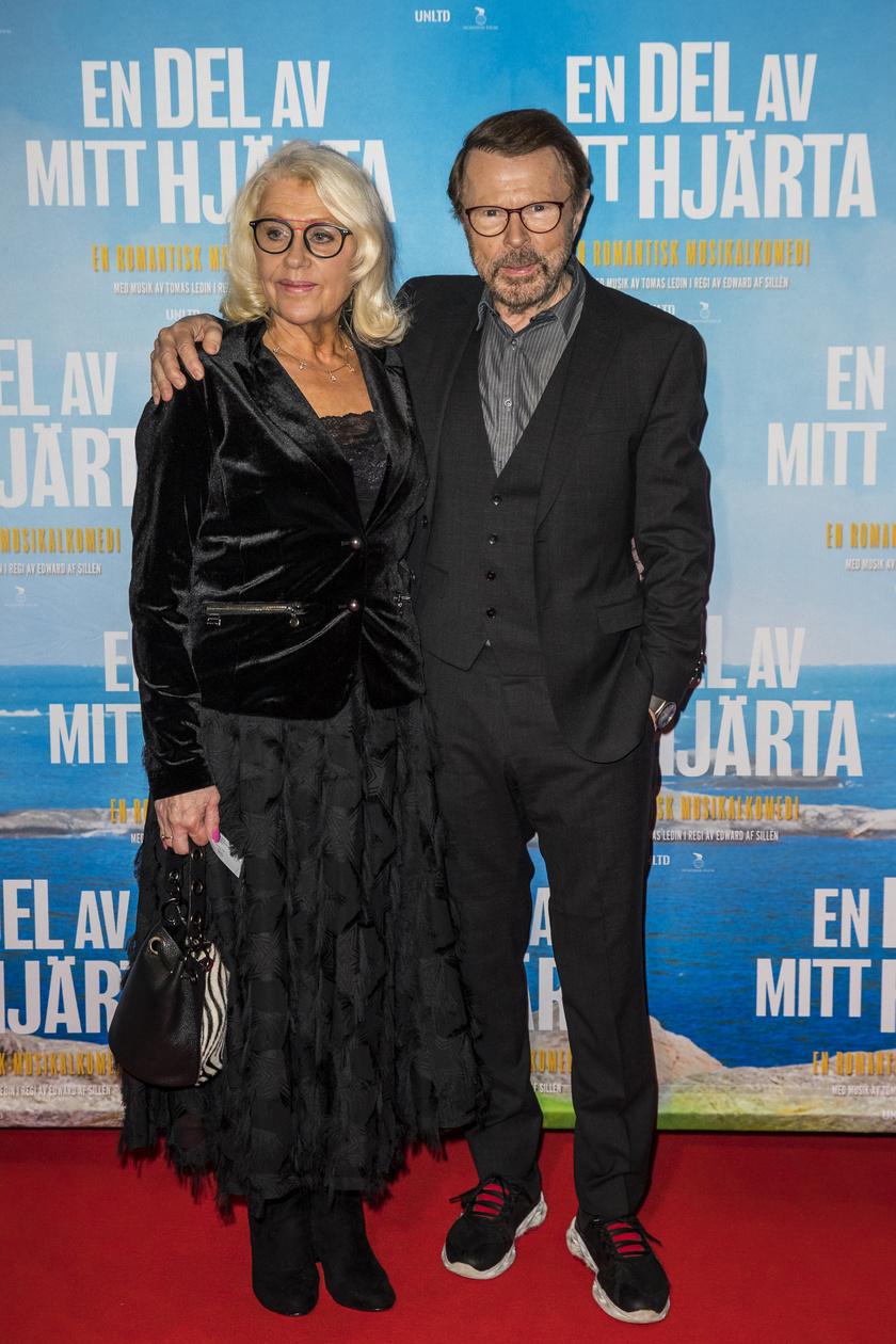 Björn Ulvaeus és Lena Kallersjö 2019 decemberében így jelentek meg egy premieren.