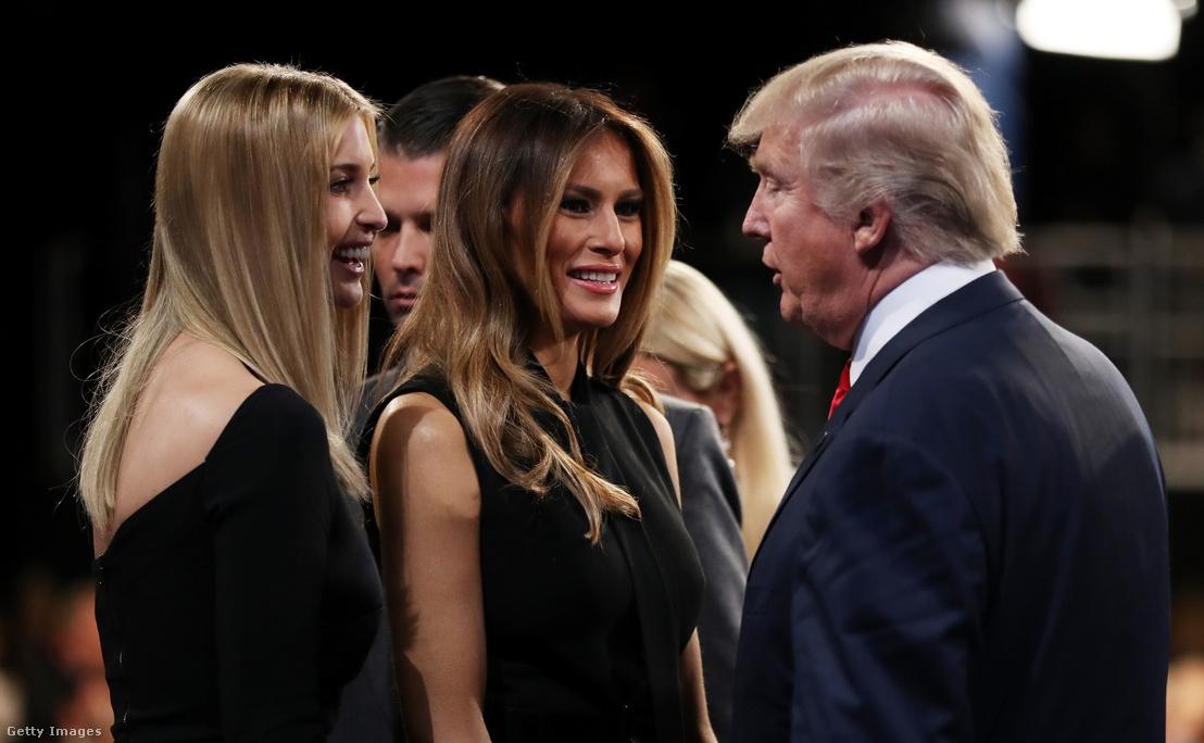 Ivanka Trump, Melania Trump és Donald Trump