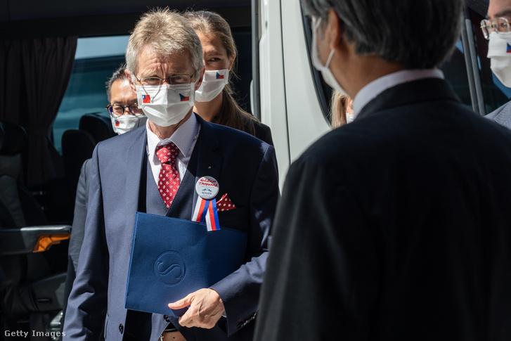 Milos Vystrcil Tajvanon 2020. augusztus 31-én.