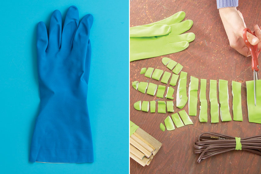 Ne dobd ki, hanem vágd csíkokra a használt gumikesztyűt! Így gumigyűrűkként hasznosíthatod, például zacskók rögzítésére.