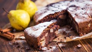 Itt a szezon: csokoládés-körtés torta egyszerűen