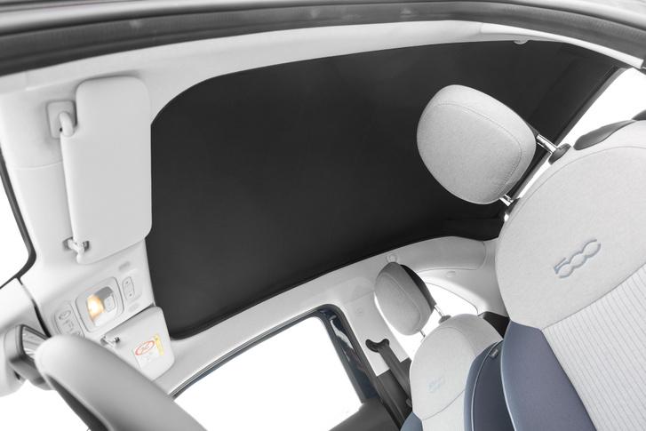 Teljes hosszon nyíló tető a New 500 cabrio változatban