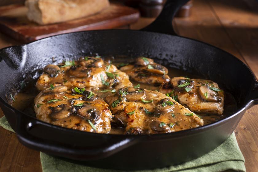 gombás balzsamecetes csirkemell recept
