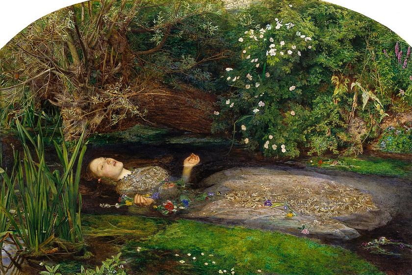 John Everett Millais: Ophelia, 1851 k. (Tate Britain)