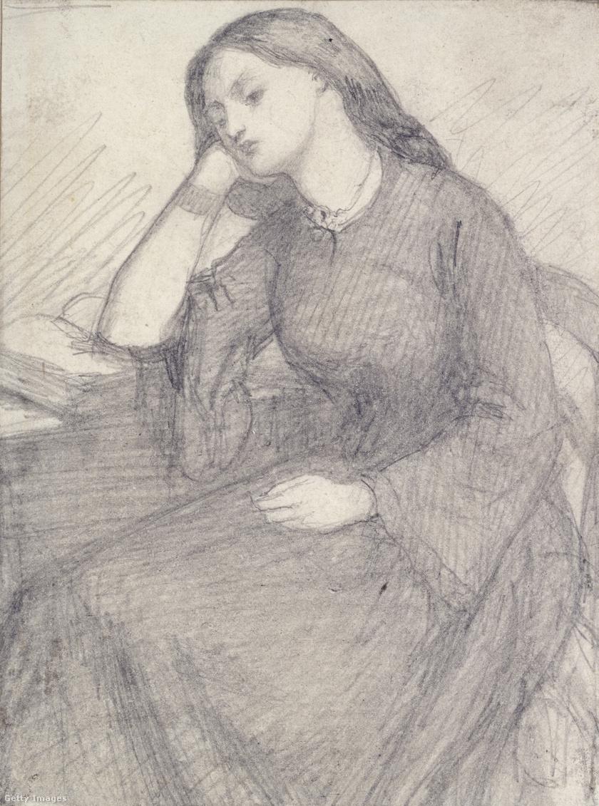 Dante Gabriel Rossetti: Elizabeth Siddal portréja, 1840 k.