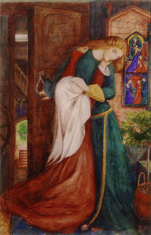 Elizabeth Siddal: Lady Clare, 1854-1857 k. (magángyűjtemény)