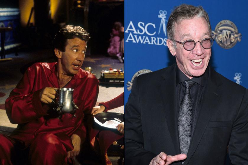 Tim Allen 1994-ben a Télapu című filmben, és 2020 januárjában egy díjátadón.