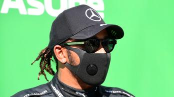 Hamilton minden idők leggyorsabb körével ért célba