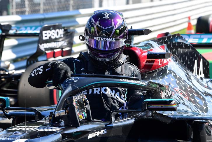 Lewis Hamilton, a Mercedes brit versenyzője nyerte a Forma-1-es Olasz Nagydíj szombati időmérő edzésén
