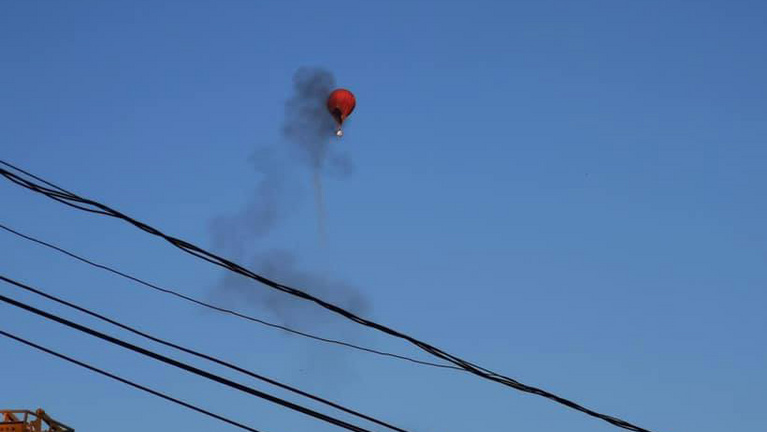 Kigyulladt egy hőlégballon