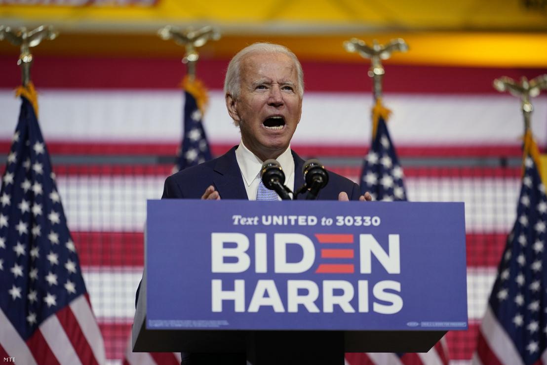 Joe Biden, a Demokrata Párt elnökjelöltje