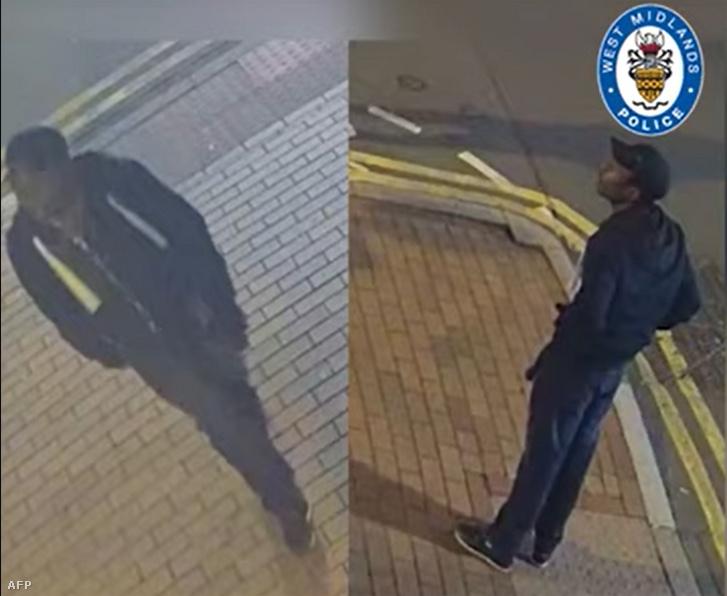 Az elkövetőről készült CCTV felvétel