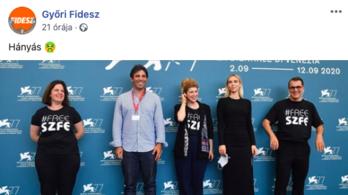 Hányás – ennyit gondol a győri Fidesz Mundruczóék tiltakozásáról