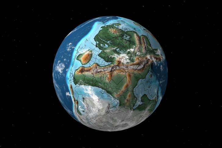300 millió évvel ezelőtt. További térképek itt