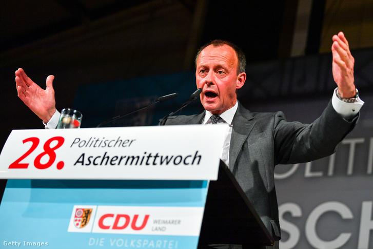 Friedrich Merz, a legnagyobb német kormánypárt, a Kereszténydemokrata Unió (CDU) és a bajor testvérpárt, a Keresztényszociális Unió (CSU) közös szövetségi parlamenti frakciójának korábbi vezetője