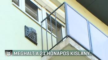 Nem volt rács az erkélyen, ezért zuhanhatott le a 21 hónapos kislány