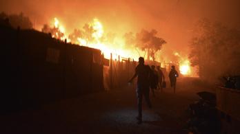 Lángba borult egy menekülttábor Leszboszon