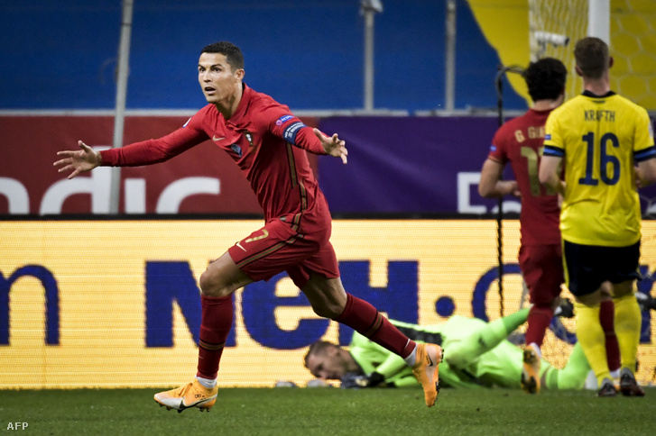 Cristiano Ronaldo a svédek ellen megszerezte 100. és 101. gólját a portugál válogatottban